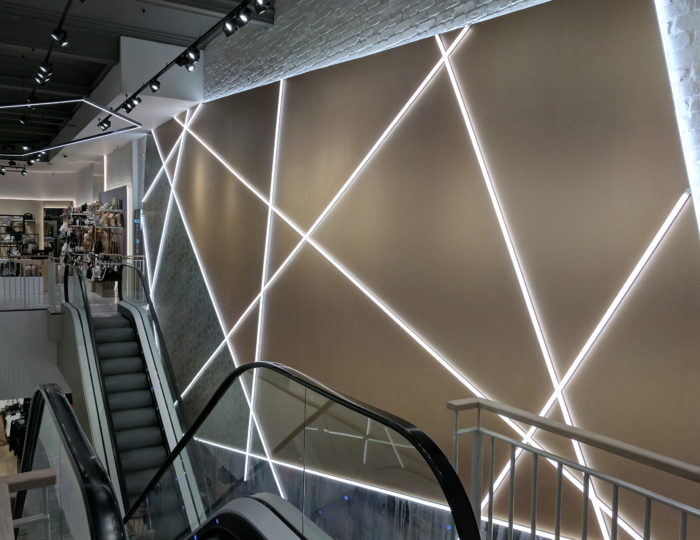 River Island Liverpool Escalator LED Linear
