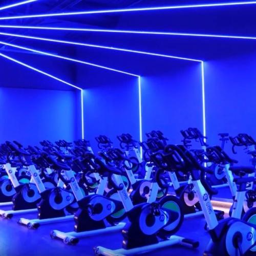 jd west bromwich blue linear lighting